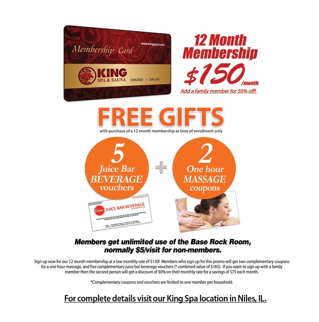 Chicago Kingspa-Monthly Membership Card