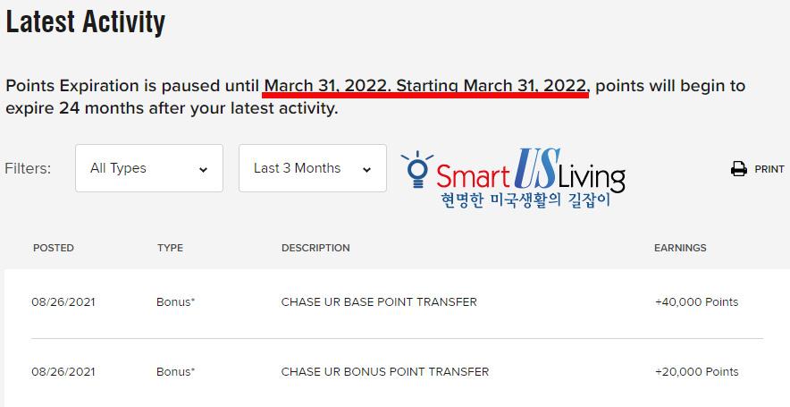 체이스 포인트를 본보이 포인트로 전환하기, Chase UR transfer to Marriott Bonvoy