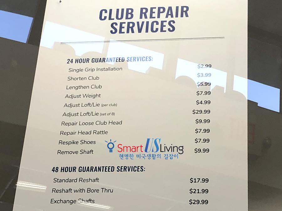 PGA 투어 수퍼스토어 골프 클럽 그립 서비스 비용 후기 PGA TOUR Superstore Golf Regrip service fee club repair