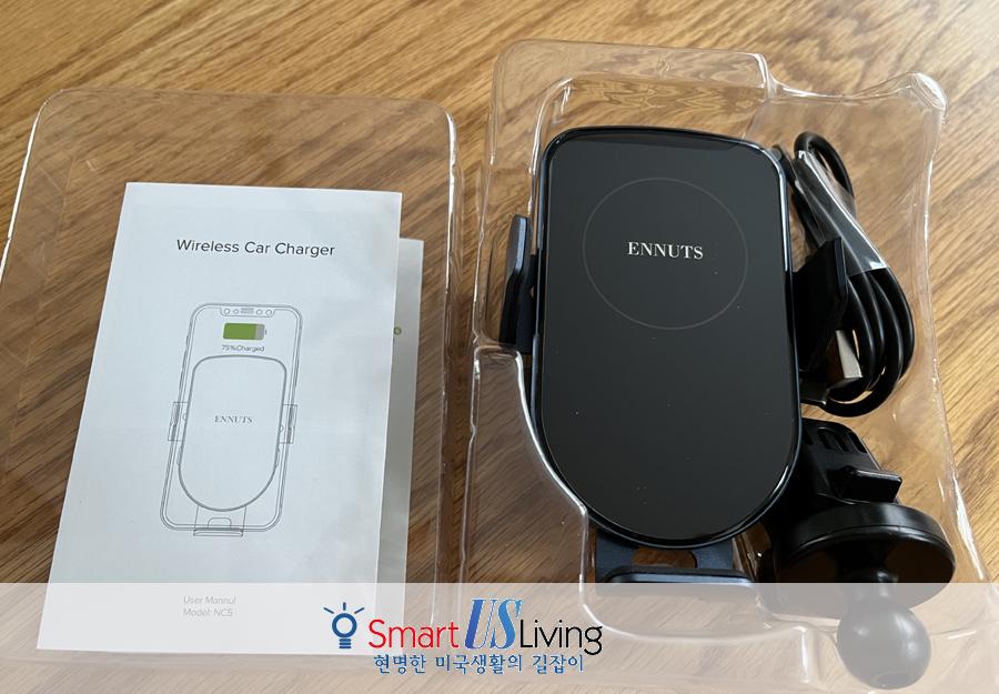폰 차량 무선 충전 거치대 (Auto-Clamping Air Vent Phone Holder Mount Charge - 15W Qi Car Charger)